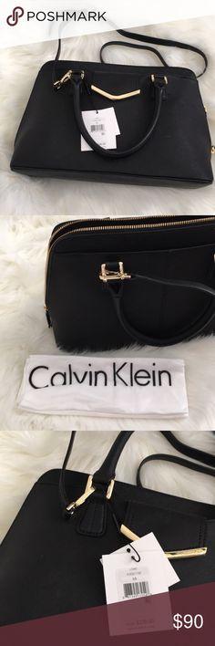 NWT Calvin Klein Black Leather Purse New With Tags Black Leather Calvin Klein Purse Includes Dust Bag Calvin Klein Bags