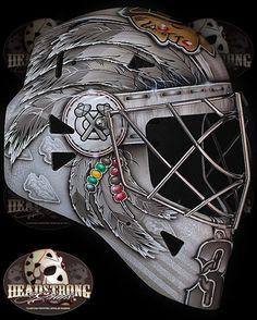 Scott Darling's new goalie mask is AWESOME!!!  #Chicago #blackhawks