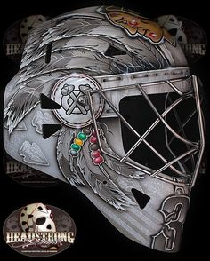 Scott Darlings new goalie mask is AWESOME!!! #Chicago #blackhawks please follow me,thank you i will refollow you later