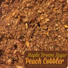 Easy Maple Brown Sugar Peach Cobbler #recipe by @letmestart