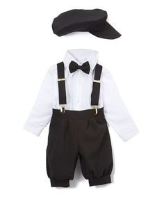 Another great find on #zulily! Black & White Five-Piece Button-Up Set - Infant & Toddler #zulilyfinds