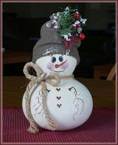 Snowman Gourd.  So pretty.