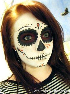 sugar skull makeup for Halloween » Halloween Costumes 2013