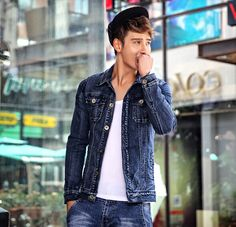 $60.35 -- Mens Denim Jacket Individual Men Fashion Jackets Fitted ...