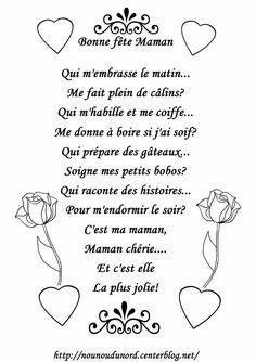 Poeme A Colorier Pour La Fete Des Meres Poeme Fete Des Meres Poeme Maman Fete Des Meres Maternelle