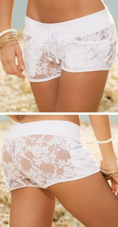 Crochet Cover-Up Shorts // cUte! - lingerie and pajamas, boutique lingerie, blue lingerie *sponsored https://www.pinterest.com/lingerie_yes/ https://www.pinterest.com/explore/intimates/ https://www.pinterest.com/lingerie_yes/christmas-lingerie/ http://www.zaful.com/lingerie-e_15/