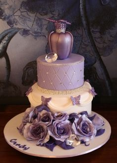 Purple Perfume Heaven By Sandyscakes1964 on CakeCentral.com