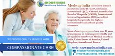 MedWayIndia is a top quality and trusted #healthcare facilitation organization that caters to international patients seeking affordable but #worldclass #medical and surgical assistance in #India with the countries most renowned #hospitals and #doctors.We ensure Least Waiting Time and Best Cost (with no hidden or extra charges) service at the countries top hospitals.We provide free consultation and healthcare opinion/advice to patients.http://www.medwayindia.com/