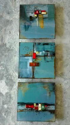 M Beneke fused glass tiles