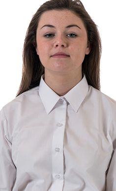 Girl Dressed At Home In Formal White Shirt