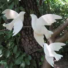 wool felt doves