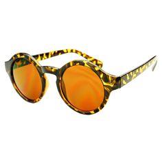 Retro Celebrity Fashion Keyhole Round Sunglasses R2150
