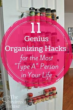 These organization hacks are so easy and helpful! Even Type A people will agree with this organizing tips!