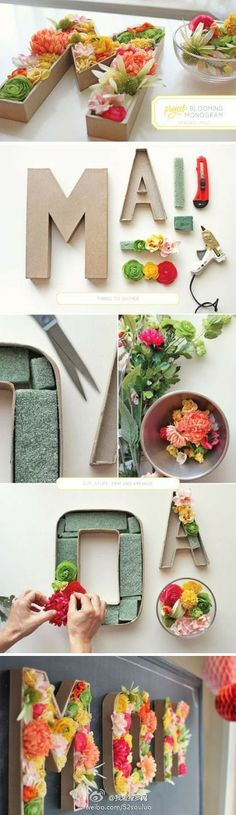 随性采集。DIY花朵装饰字母标识http://www.52souluo.com/69674.html