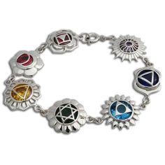 cooltime Yoga Meditation Chakra Energy Pendant Necklace Shiny Silver Crystal Jewelry