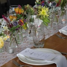 white lace table runner auckland hire