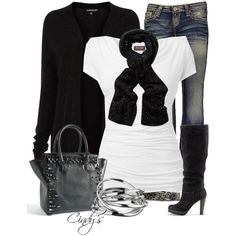 Black and White, created by cindycook10 on Polyvore