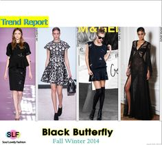 Enchanted Forest Black Butterfly#Fashion Trend for Fall Winter 2014 #Fall2014 #FW2014 #Trends