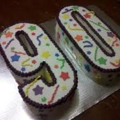 90th Birthday Cake Idea Decorations Number Cakes