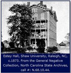 Shaw University educated the founders of several of NC's HBCUs -- Elizabeth City State University, North Carolina Central University, and Fayetteville State University. ^cs