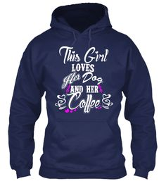 Ladies do you love Dog and Coffee Equally? This is the Shirt for you. Not available stores. Share and tag a FriendAlso Available in Hoodies and many Colors