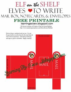 Your elf has so many adventures that s/he may want to send some letters to the friends in the North Pole. Check out all of my othe...