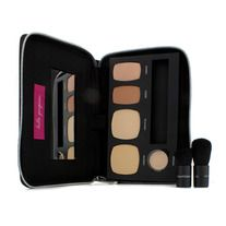 BareMinerals Ready To Go Complexion Perfection Palette - # R170 (For Light Neutral Skin Tones):,1x Mini Ready Foundation Broad Spectrum SPF20 - # Fairly Light (R170),1x Mini Ready Touch Up Veil Broad Spectrum SPF 15 (# Light),1x Mini Ready Bronzer (# The Skinny Dip),1x Mini Ready Luminizer