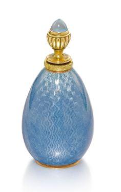 A gold-mounted enamel scent bottle, Vladimir Soloviev, St Petersburg, 1908-1917 | Lot | Sotheby's