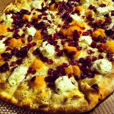 Butternut Squash, Ricotta, and Cranberry pizza from OTTO Pizza in Harvard Square, Cambridge.