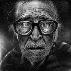 Lee Jeffries Black and White Portrait of the homeless