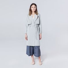 Wave Trench Light Grey Trench Lighter, Duster Coat, Waves, Grey, Cotton, Jackets, Fashion, Gray, Moda