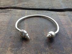 Sterling Silver Conch Bracelet Open Bracelet by BwaveJewelry