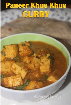 A different paneer dish which has no tomatoes and it taste so delicious with hot rotis. This curry has no coconut in this. A simple and delicious sidedish.