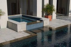 Perimeter Overflow Swimming Pool and Spa Located on Isle of Palms ...