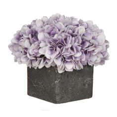 House of Silk Flowers Artificial Fresh Hydrangea in Cube Pot & Reviews | Wayfair