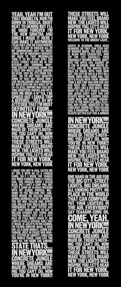Empire State Of Mind lyrics by Jay-Z and Alicia Keys on the shape of the Twin Towers
