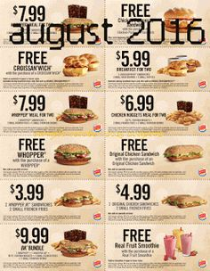 Burger King coupons & Burger King promo code inside The Coupons App. Two-for-one sandwiches, smoothies and more at Burger King May Free Food Coupons, Cigarette Coupons Free Printable, Free Printable Coupons, Free Printables, Mcdonalds Coupons, Kfc Coupons, Grocery Coupons, Wendys Coupons, Free Mcdonalds