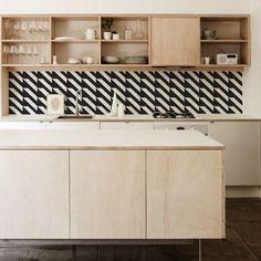 Kitchen Walls Backsplash Wallpaper   Remodelista