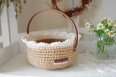 Inspiration -     Basket with wire handle
