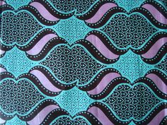Teal with metalic pink and hearts #african #wax #print #fabric