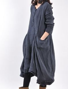 Home Relaxation Linen Dress. Since when is dressing like a Jedi relaxing?