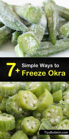 Freezing Vegetables, Canning Vegetables, Fruits And Veggies, Fresh Vegetables, How To Freeze Okra, How To Fry Okra, Soups To Freeze, Okra Recipes, Canning Recipes