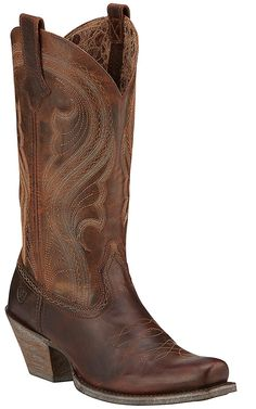 Ariat Lively Women's Sassy Brown Punchy Square Toe Western Boots | Cavender's