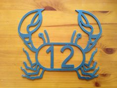 Beach house numbers. Crab Lobster Address Sign House numbers. House address...SHIPS PRIORITY on Etsy, $34.00
