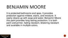 Benjamin Moore Bathroom paint
