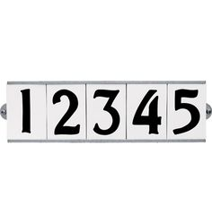 Porcelain Tile House Number Set 3,4, or 5 Tiles with Bracket--$75 FOR SET REJUVENATION HARDWARE