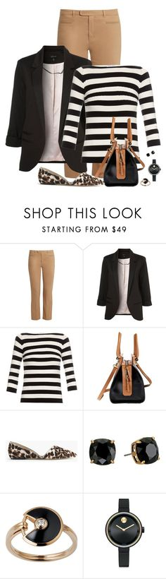 """""""Spring Layers"""" by fashionista88 ❤ liked on Polyvore featuring 'S MaxMara, Topshop, Tomas Maier, J.Crew, Tory Burch, Cartier, Movado, stripes, leopard and springfashion"""