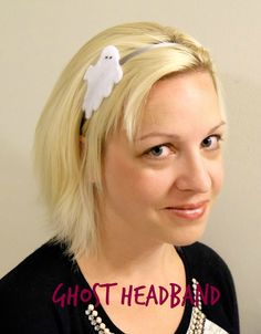 Ghost Headband by Albion Gould   Mabey She Made It   #halloween #headband #ghost #hair #costume