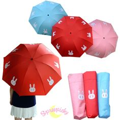 [3 Colors Sailor Moon Crystal] Usagi Bunny 3 Folding Umbrella SP151637