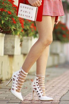 The high heels are gorgeous and beautiful legs